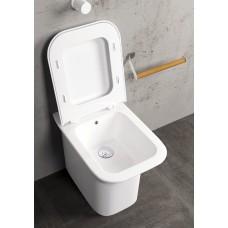 Лесно Почистваща се Тоалетна с Долно Оттичане PRUA